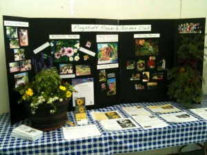 Garden Club exhibit at the Fair