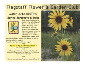 March meeting of Flagstaff Flower and Garden Club