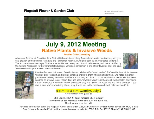 July 9, 2012, meeting information