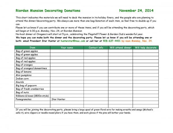 Riordan Mansion materials chart 11-24-14
